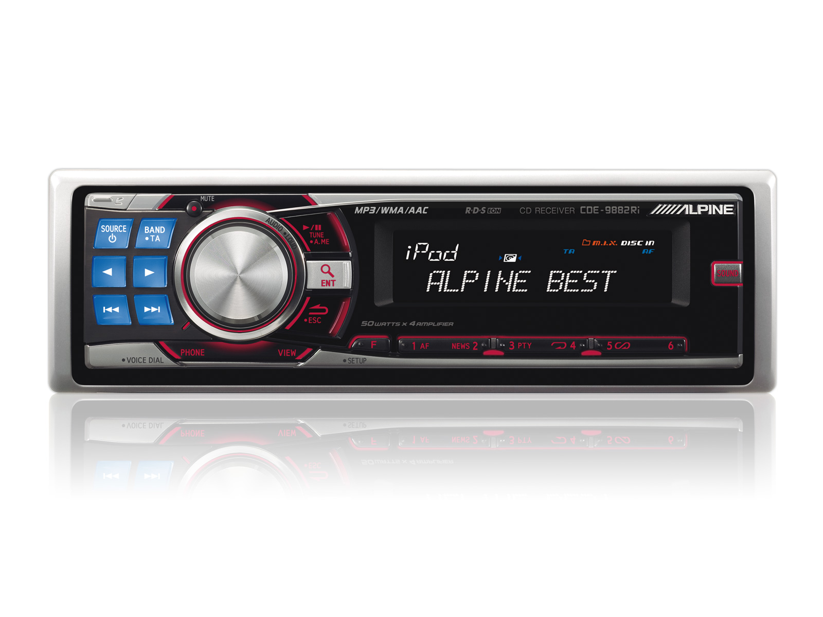 alpine cde 9882ri cd mp3 headunit mega watt